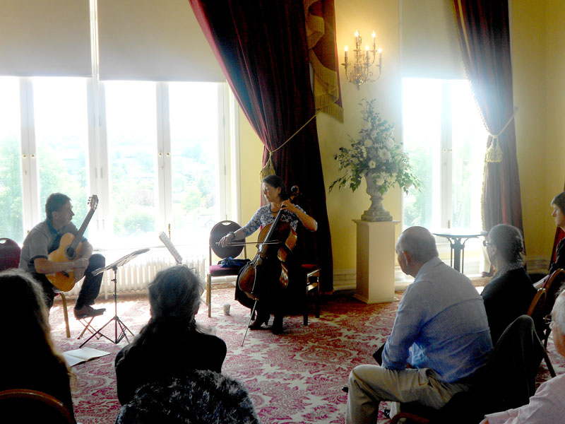 Bowes museum master class with guitarists Bach